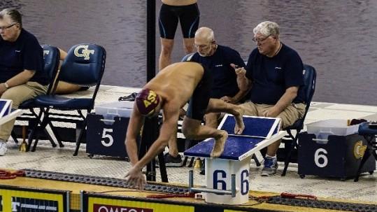 beca de natación en USA