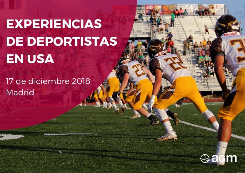 cartel charla experiencias deportistas en usa_17dic2018