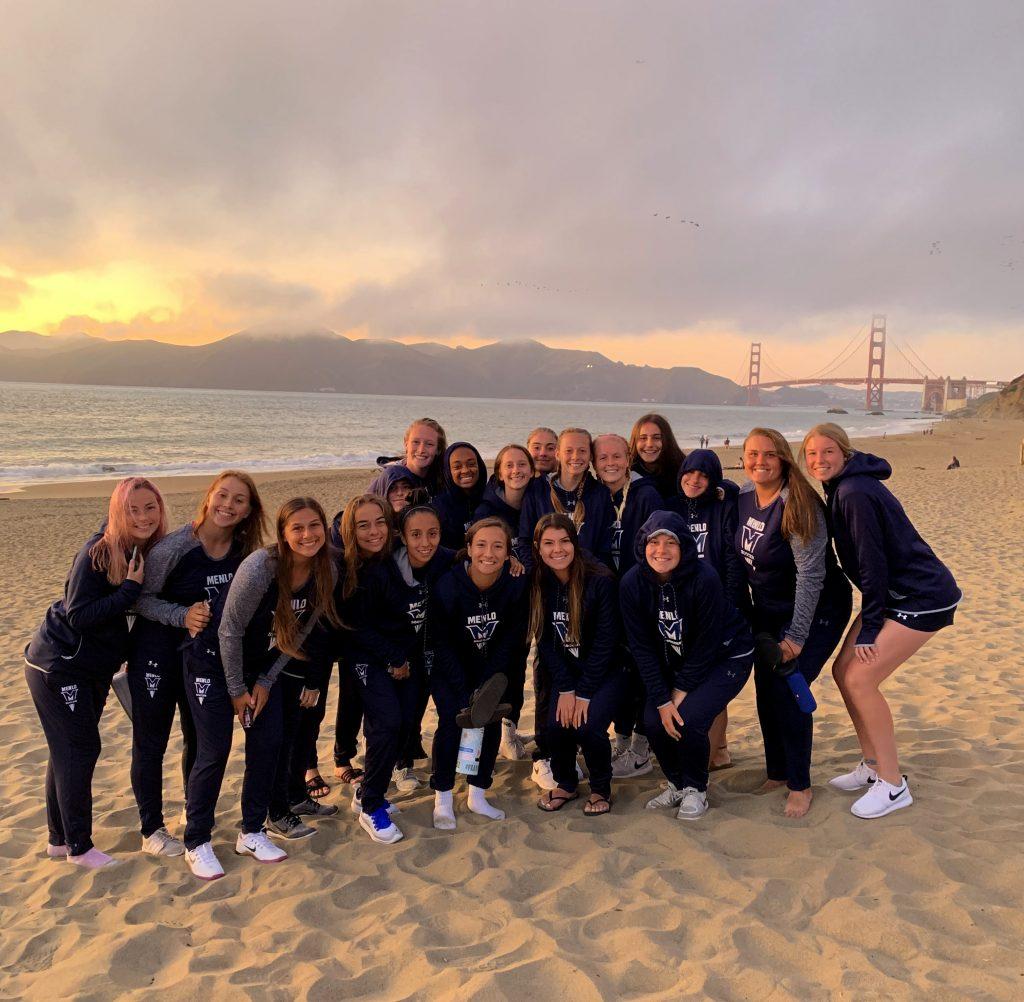En equipo de Menlo College en San Francisco