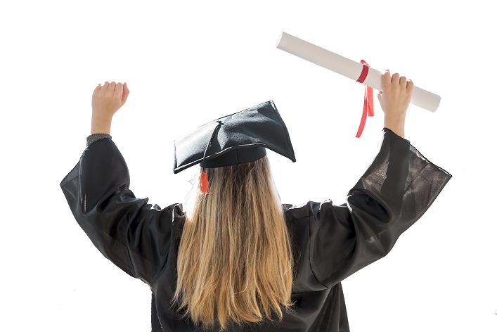 Foto Graduada diploma