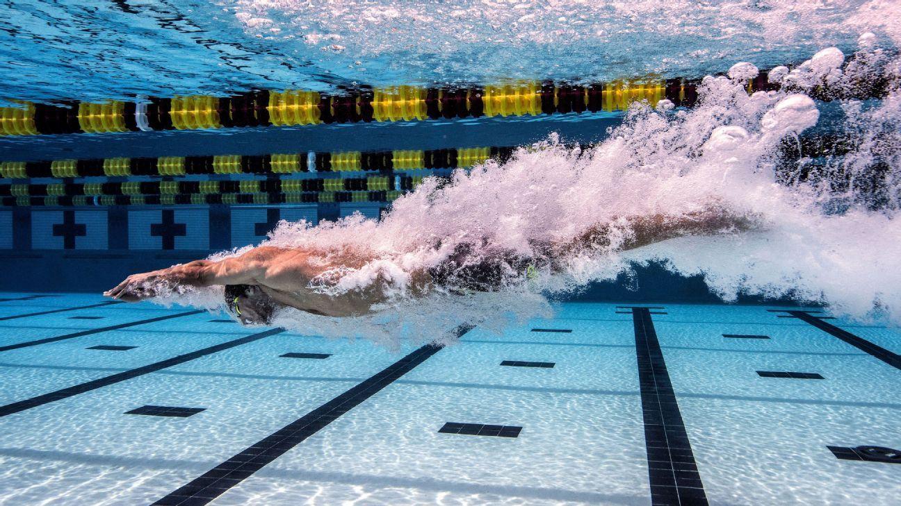 Imagen de Michael Phelps nadando